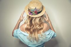 Free Young Sexy Lady In Canotier Hat Royalty Free Stock Photo - 151016285