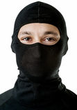 Young sexy man in black ski mask Royalty Free Stock Image