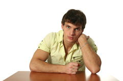 Young Sexy Man Isolated on White Stock Image