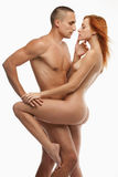 Young sexy naked heterosexual couple making love Stock Photography