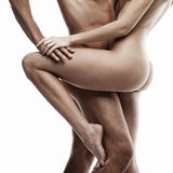 Young sexy naked heterosexual couple making love Royalty Free Stock Photos