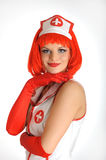 Young sexy nurse with red hair Royalty Free Stock Image