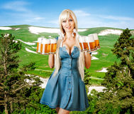 Young oktoberfest woman royalty free stock photography