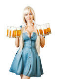 Young sexy oktoberfest woman Royalty Free Stock Images