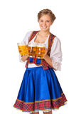 Young sexy Oktoberfest woman Stock Photos