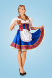 Young sexy Oktoberfest woman Stock Photography