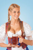 Young Oktoberfest woman Stock Images