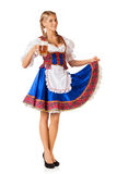 Young sexy Oktoberfest woman Stock Photo