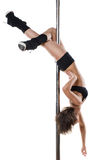 Young sexy pole dance woman Royalty Free Stock Photo