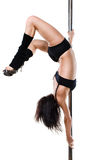 Young sexy pole dance woman Royalty Free Stock Image