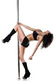 Young sexy pole dance woman Stock Photography