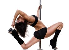 Young sexy pole dance woman Stock Image
