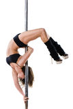 Young sexy pole dance woman Royalty Free Stock Images