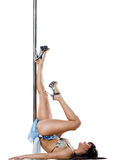 Young sexy pole dance woman Royalty Free Stock Photos