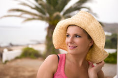 young sexy romantic summer woman Royalty Free Stock Photos
