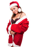 Young sexy Santa Girl Royalty Free Stock Photos