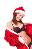 Young sexy Santa Girl Royalty Free Stock Images