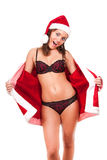 Young sexy Santa Girl Stock Photography