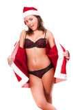 Young sexy Santa Girl Royalty Free Stock Image