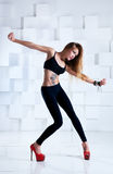 Young sexy slim woman Stock Images