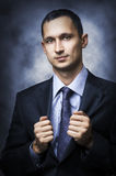 Young sexy successful business man Royalty Free Stock Photos