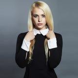 Young woman.Beautiful Girl in schoolgirl dress Royalty Free Stock Image