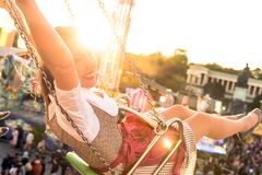Girl with dirndl does oktoberfest wiesn in munic. Young woman is doing oktoberfest in munic bavaria in the spring summer autumn folk festival. she is wearing a royalty free stock photography
