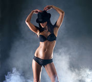 A young and sexy woman in erotic lingerie Royalty Free Stock Photo