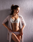 A young and sexy woman in erotic lingerie Royalty Free Stock Photos