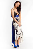 Young woman in evening dress Royalty Free Stock Image