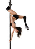 Young sexy woman exercise pole dance Royalty Free Stock Images