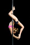 Young sexy woman exercise pole dance Royalty Free Stock Photo