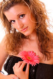 Young sexy woman with flower Royalty Free Stock Photo