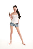 Young, sexy woman with gun. Stock Photography