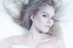 Young woman with long hair Royalty Free Stock Image
