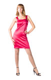 Young sexy woman in pink dress Royalty Free Stock Photos