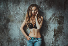 Young sexy woman portrait Royalty Free Stock Photography