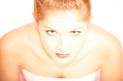 Young sexy woman portrait, isolated Stock Photos