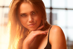 Young sexy woman portrait Stock Photos