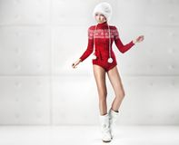 Young and sexy woman posing Royalty Free Stock Images