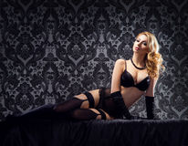 Young and sexy woman posing in lingerie Royalty Free Stock Photography