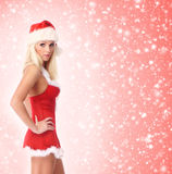 A young and sexy woman posing in Santa lingerie Royalty Free Stock Image
