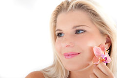 Young woman with pure healthy skin Royalty Free Stock Photography