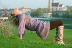 Young sexy woman relaxing in the evening Stock Photography