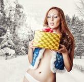 Young sexy woman santa claus Stock Photography