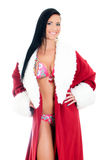 Young woman in santa clause costume. Stock Images