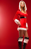 Young sexy woman in santa clothing Royalty Free Stock Photography