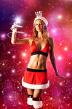 Young sexy woman in santa clothing Royalty Free Stock Photos
