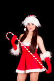 Young and sexy woman in santa costume Stock Photo