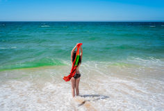 Young sexy woman in the sea water Royalty Free Stock Photo